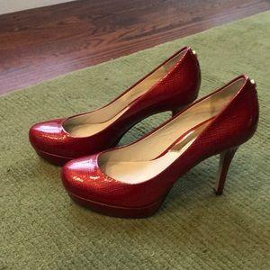 Red Michael Kors Heels, size 6